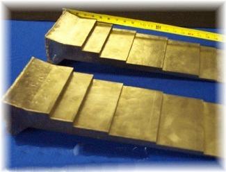 Titanium step plate